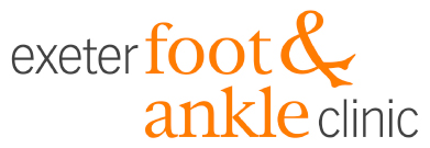 Exeter Foot & Ankle Clinic logo got Website Heading - treating ankle, foot & toe problems